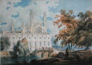 Turner - Clare Hall and the West End of King's College Chapel, Cambridge, from the banks of the River Cam, 1793