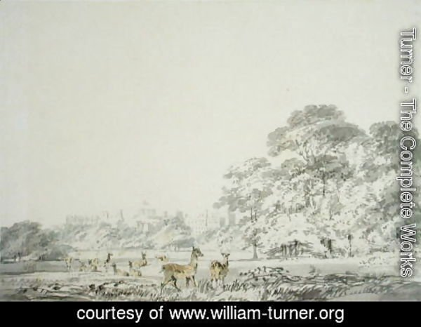 Turner - Windsor Castle and Park with Deer