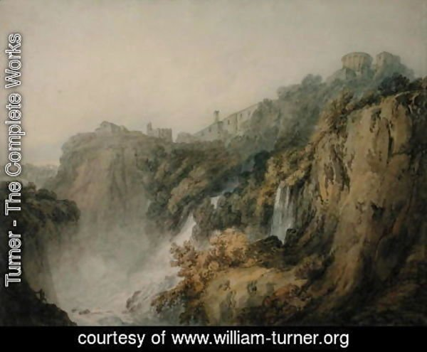 Turner - Tivoli with the Temple of the Sibyl and the Cascades, c.1796-97