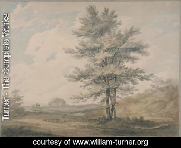 Turner - Landscape with Trees and Figures, c.1796