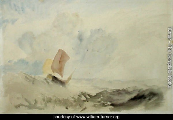 A Sea Piece - A Rough Sea with a Fishing Boat, 1820-30