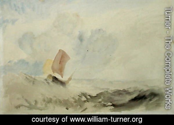Turner - A Sea Piece - A Rough Sea with a Fishing Boat, 1820-30