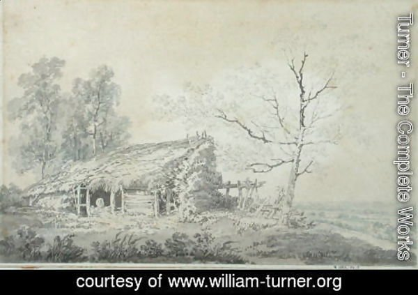 Turner - Landscape with Barn, c.1795