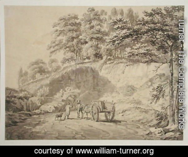 Turner - Man with Horse and Cart Entering a Quarry, c.1797