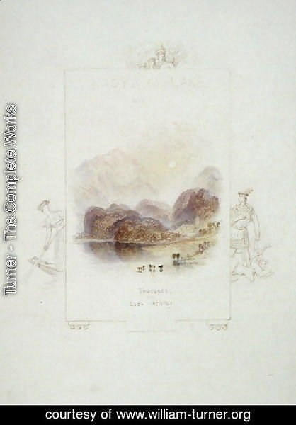 Turner - Design for an illustration for Walter Scotts Lady of the Lake, Loch Achray