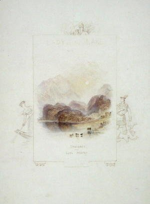 Design for an illustration for Walter Scotts Lady of the Lake, Loch Achray