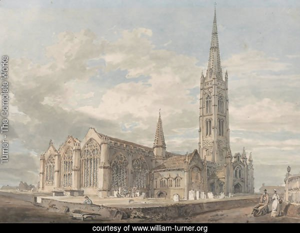 North-east View of Grantham Church, Lincolnshire, c.1797