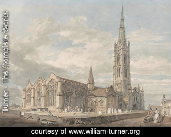 Turner - North-east View of Grantham Church, Lincolnshire, c.1797