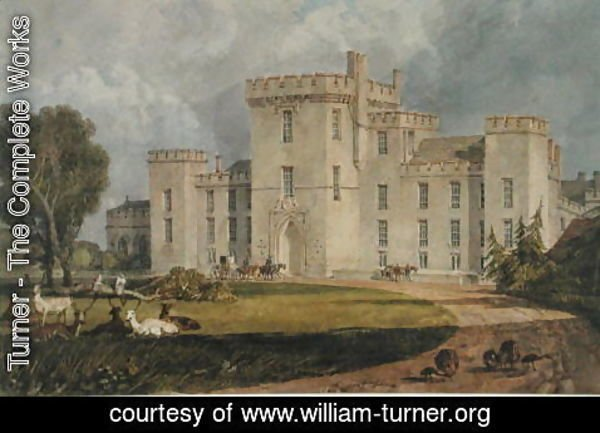 Turner - View of Hampton Court from the North-west, c.1806