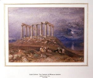 Turner - The Temple of Minerva at Sunium, Cape Colonna