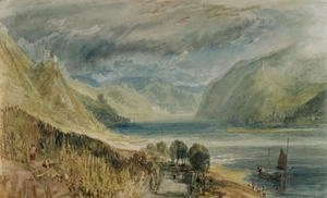 Turner - Burg Sooneck with Bacharach in the Distance, 1817