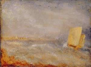 A Sailing Boat off Deal, c.1835