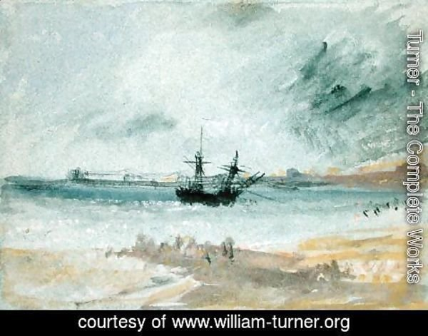 Turner - Ship Aground, Brighton, 1830