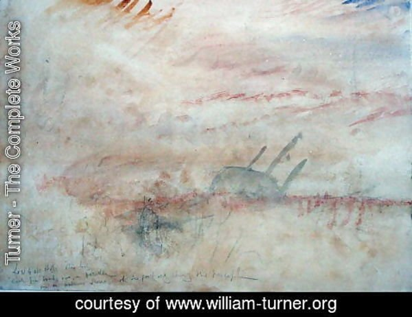Turner - Lost to All Hope The Brig, c.1845-50