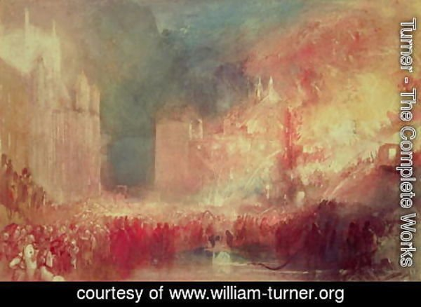 Turner - The Burning of the Houses of Parliament, 16th October 1834, 1839