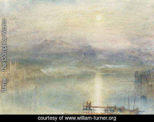 The Lake of Lucerne, Moonlight, the Rigi in the Distance, c.1841
