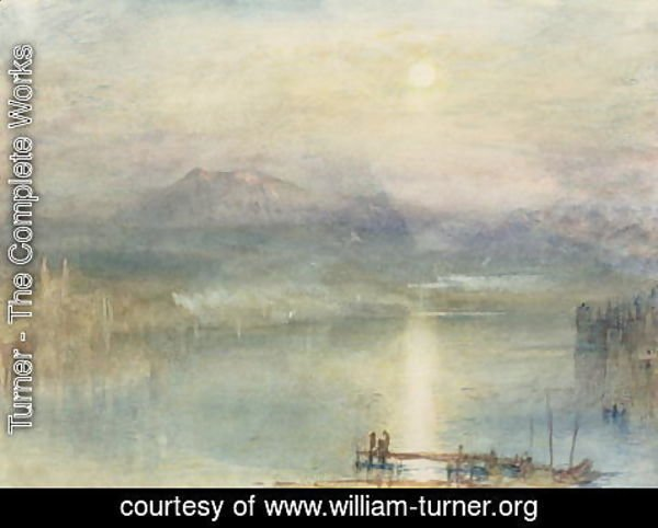 Turner - The Lake of Lucerne, Moonlight, the Rigi in the Distance, c.1841