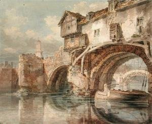 Turner - Old Welsh Bridge, Shrewsbury, 1794