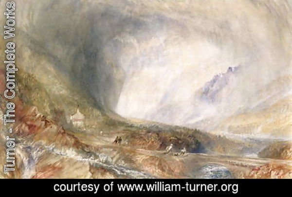 Turner - Storm in the Pass of St Gothard