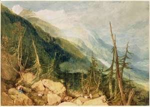 Turner - The Valley of Chamonix, 1800