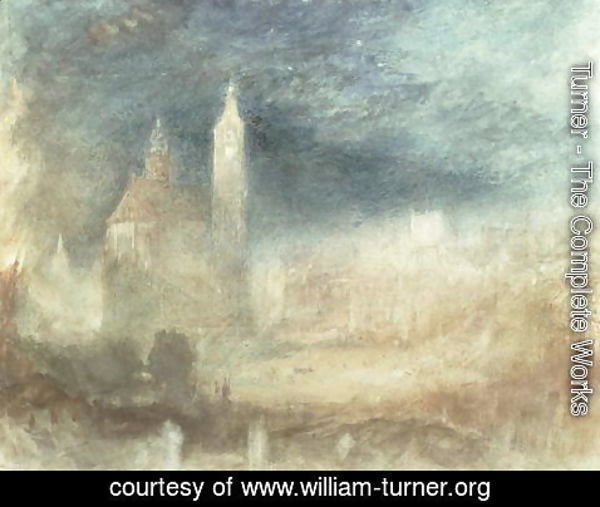 Turner - A Conflagration, Lausanne