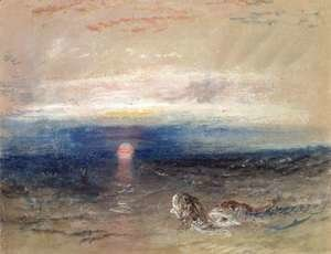 Turner - Sunset at Sea with Gurnets