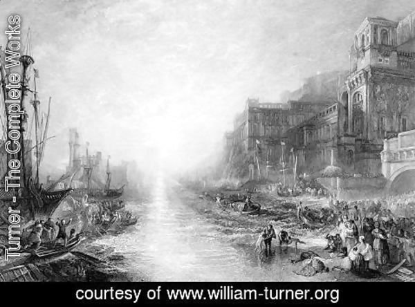 Turner - The Embarkation of Regulus, Ancient Carthage, engraved by Daniel Wilson 1816-92, 1838-52