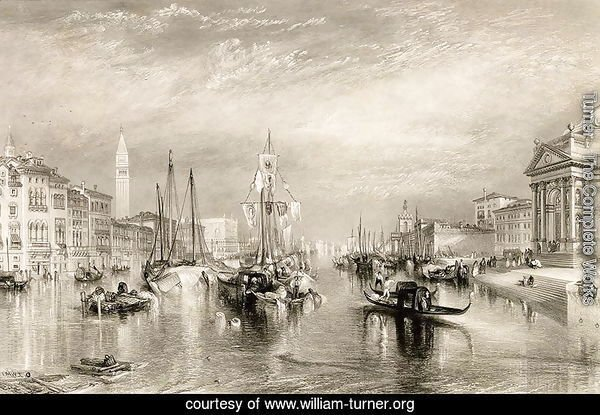 The Grand Canal, Venice, engraved by William Miller 1796-1882 1838-52
