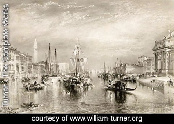 Turner - The Grand Canal, Venice, engraved by William Miller 1796-1882 1838-52