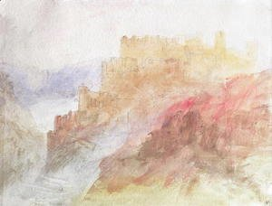 Turner - A Castle Above A Chasm, c.1841-44