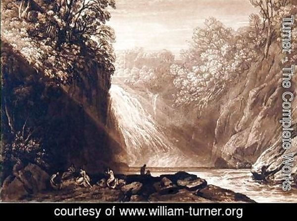 Turner - The Fall of the Clyde, engraved by Charles Turner 1773-1857, 1859-60
