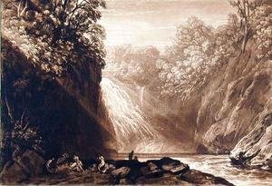 The Fall of the Clyde, engraved by Charles Turner 1773-1857, 1859-60
