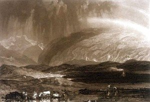 Turner - Peat Bog, Scotland, engraved by George Clint 1770-1854