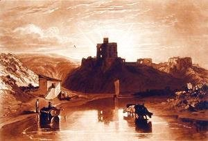 Turner - Norham Castle, engraved by Charles Turner 1773-1857 1859-61