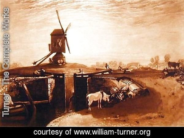 Turner - Windmill and Lock, engraved by William Say 1768-1834