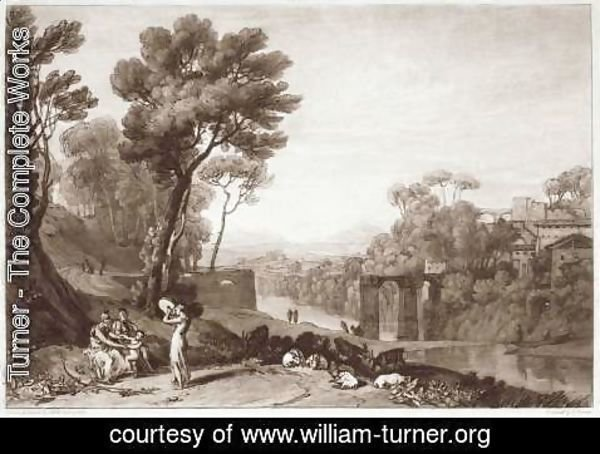 Turner - The Woman and Tambourine, engraved by Charles Turner 1773-1857 1853-74
