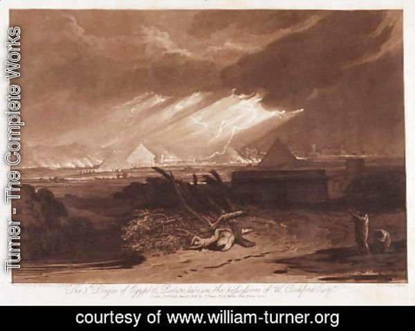 Turner - The Fifth Plaque of Egypt, engraved by Charles Turner 1773-1857 1808