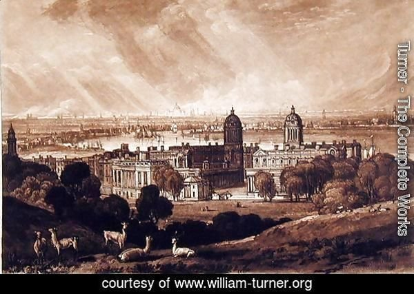 London from Greenwich, engraved by Charles Turner 1773-1857 1811