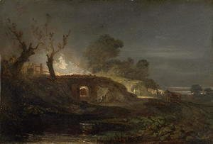 Turner - A Lime Kiln at Coalbrookdale, c.1797