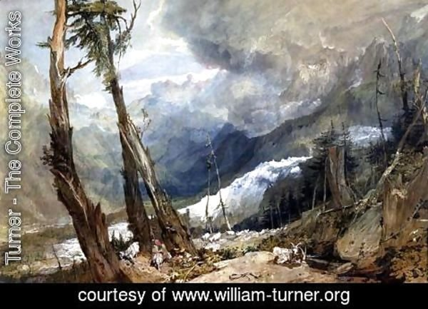 Turner - Mere de Glace, in the Valley of Chamouni, Switzerland, 1803