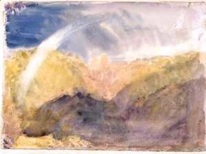 Turner - Crichton Castle Mountainous Landscape with a Rainbow c.1818