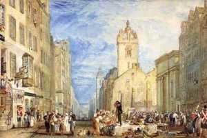 Turner - High Street, Edinburgh, c.1818