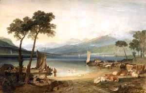Turner - Lake Geneva and Mont Blanc, 1802-5