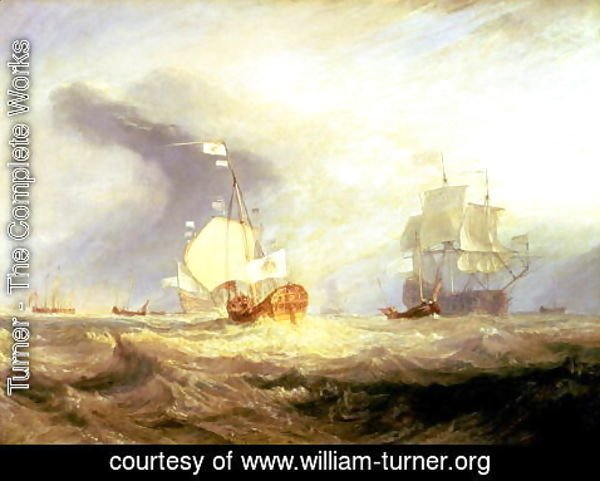 Turner - Admiral von Trumps Barge at the Entrance of the Texel in 1645, c.1831