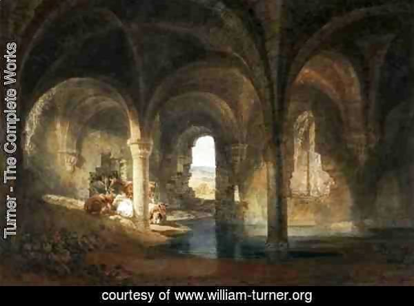 Refectory of Kirkstall Abbey, c.1798