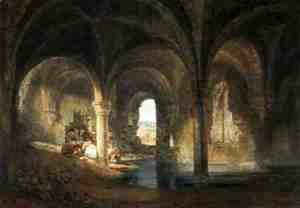 Turner - Refectory of Kirkstall Abbey, c.1798