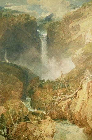 Turner - The Great Falls of the Reichenbach, 1804