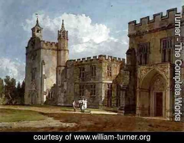 Turner - The Bishops Palace, Salisbury, c.1795
