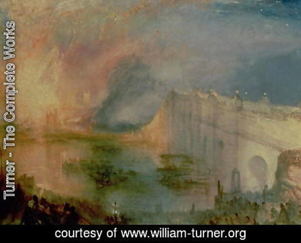 Turner - The Burning of the Houses of Parliament, 16th October 1834, c.1835