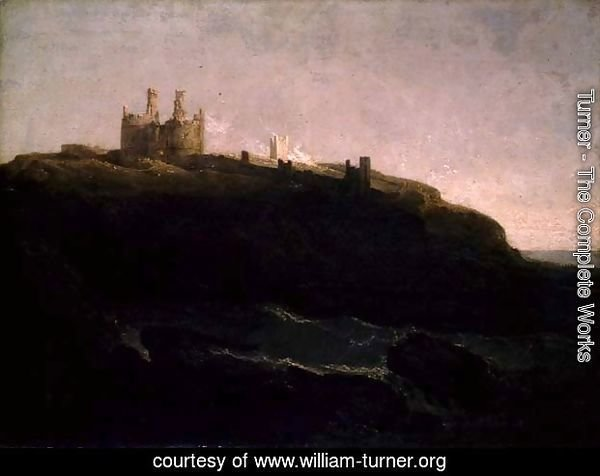 Dunstanborough Castle, Sunrise after a Squally Night, 1798
